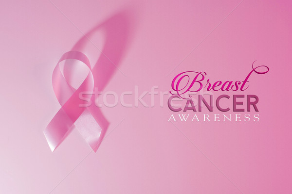 Breast cancer awareness pink ribbon background Stock photo © cienpies