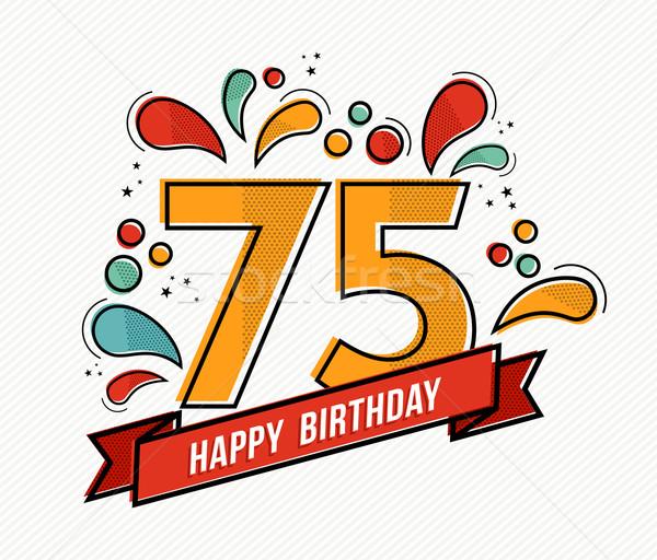 カラフル お誕生日おめでとうございます 番号 行 デザイン グリーティングカード ストックフォト © cienpies