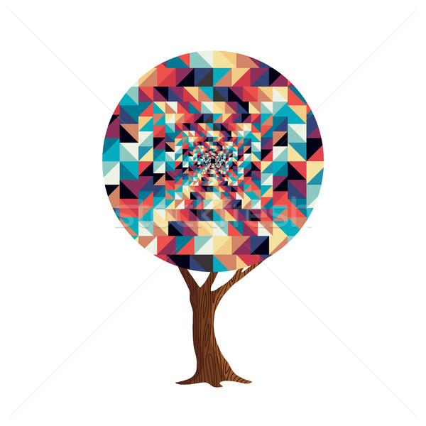 Retro abstract texture decoration tree concept Stock photo © cienpies