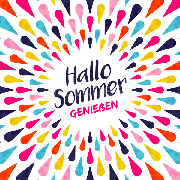 Hello summer german vacation typography  Stock photo © cienpies