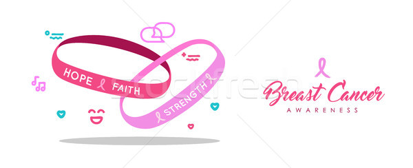 Breast Cancer Care pink charity bracelet banner Stock photo © cienpies