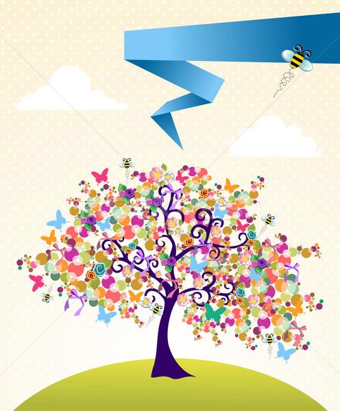 Сток-фото: аннотация · весны · время · дерево · пейзаж · цветы