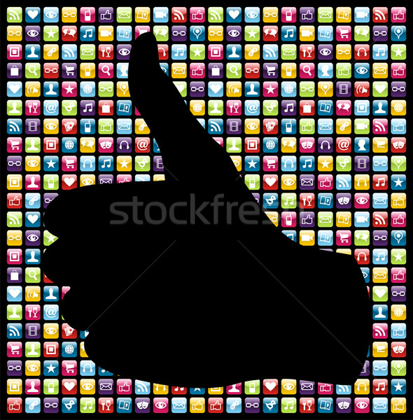 I like mobile phone app icons pattern Stock photo © cienpies