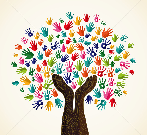 Colorful  solidarity design tree Stock photo © cienpies