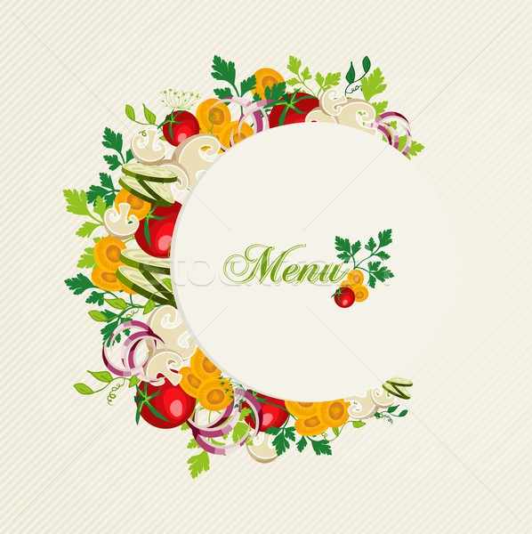 Vegetarian food menu illustration Stock photo © cienpies