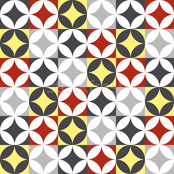 Traditional style ceramic tile patchwork design Stock photo © cienpies