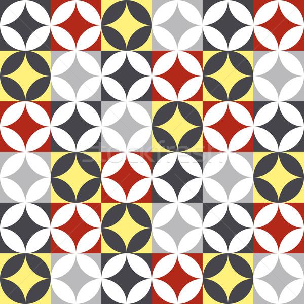 Traditionnel style céramique carrelage patchwork design Photo stock © cienpies