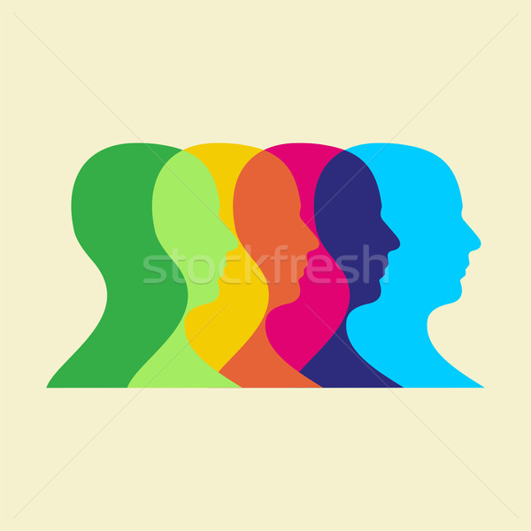 social interaction illustration Stock photo © cienpies