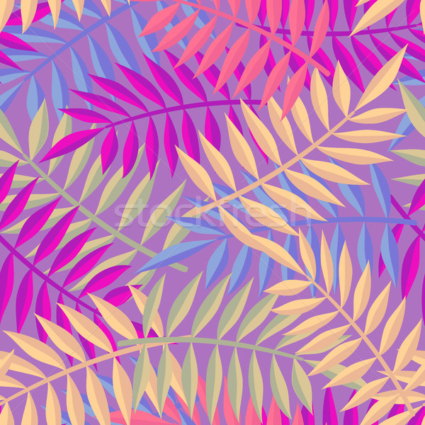 Stock photo: Tropical summer jungle palm tree leaf background