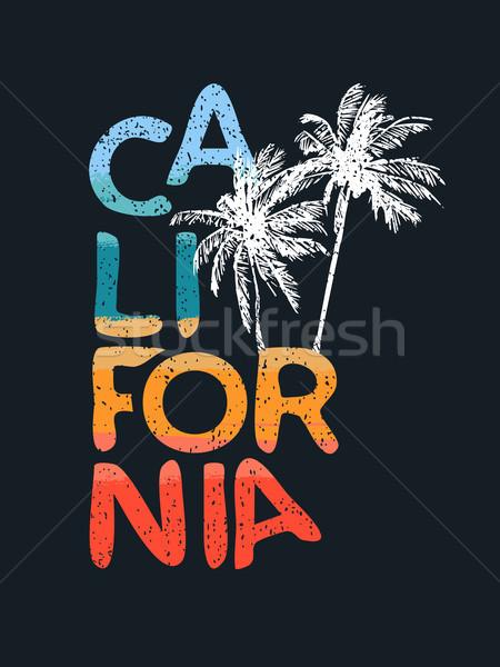Kaliforniya plaj tropikal kaligrafi metin sanat Stok fotoğraf © cienpies