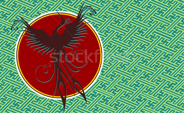 Phoenix bird background Stock photo © cienpies