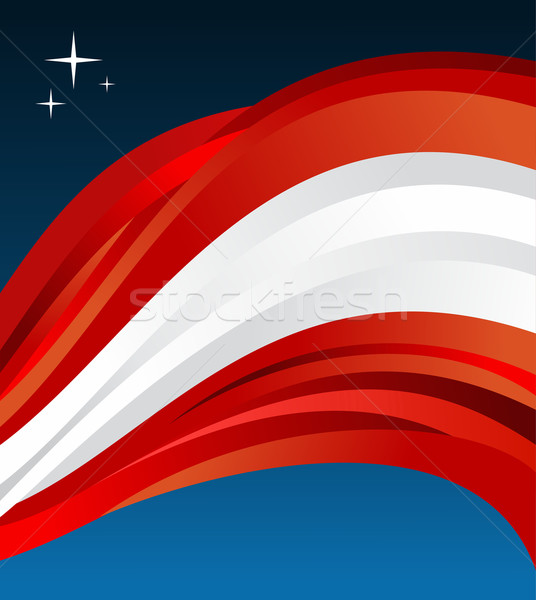 Stock photo: Austria flag illustration background