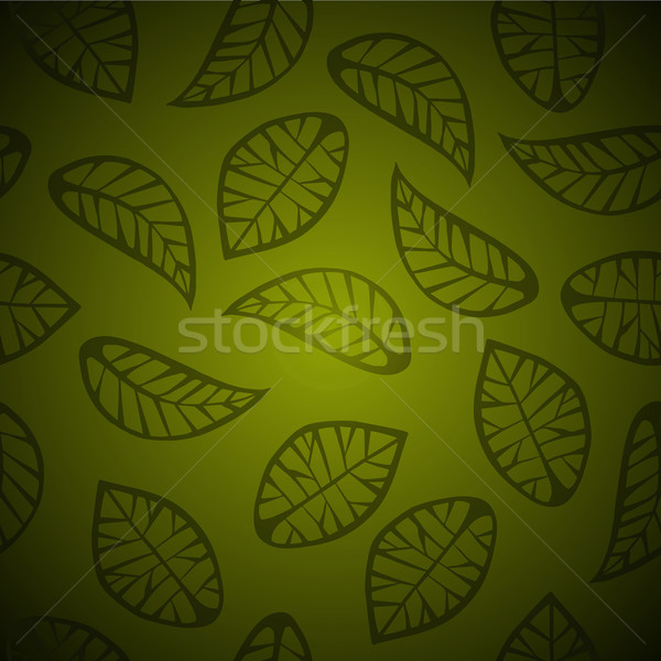 Seamless leaves background Stock photo © cienpies