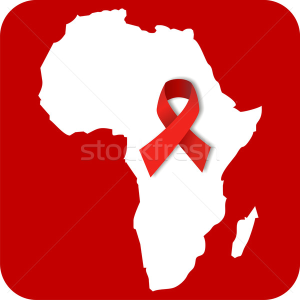 Stop AIDS in Africa Stock photo © cienpies