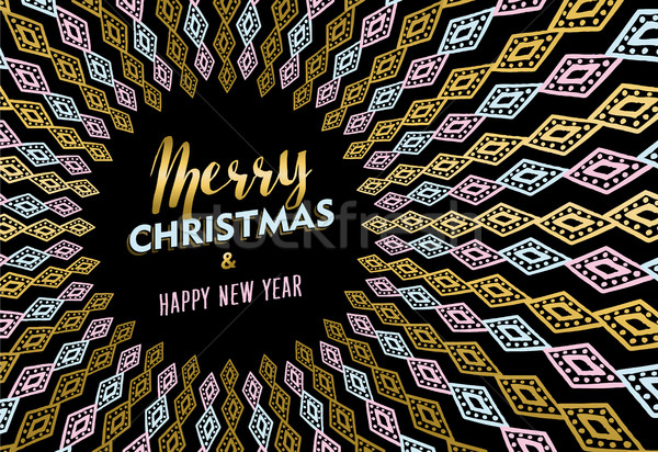 Weihnachten Neujahr Gold tribal Kunst heiter Stock foto © cienpies