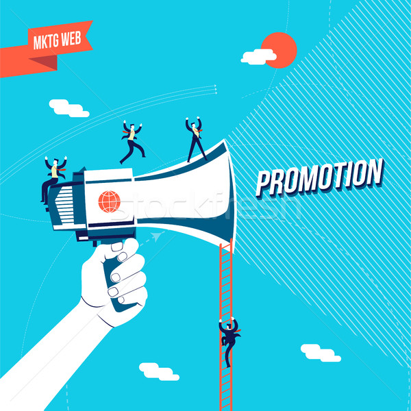Negócio promoção on-line ilustração empresário Foto stock © cienpies