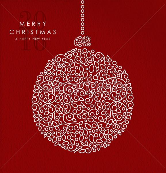 Alegre Navidad feliz año nuevo chuchería art deco Foto stock © cienpies