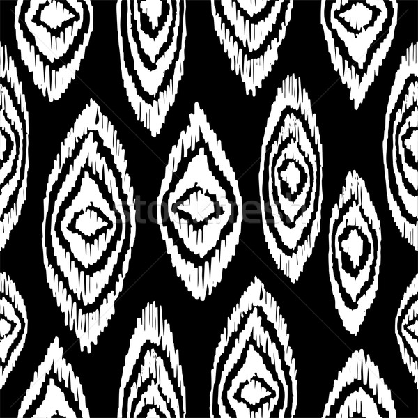Black and white seamless pattern with boho shapes Stock photo © cienpies