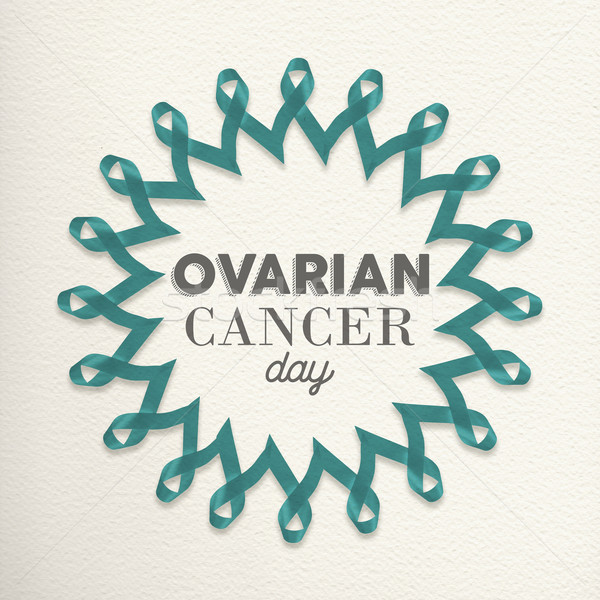 Ovarian cancer day awareness design made of ribbon Stock photo © cienpies