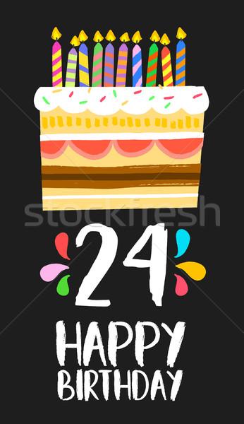 Mutlu yıllar kart 24 yirmi dört yıl Stok fotoğraf © cienpies