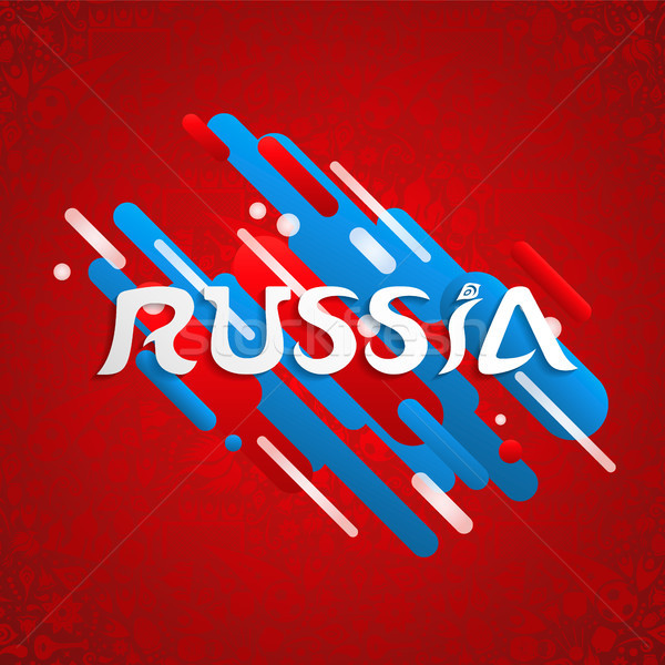 Russia sport event design for special soccer game Stock photo © cienpies