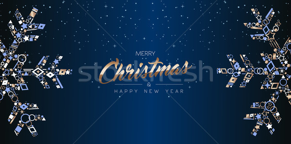 Christmas web banner luxury card of snowflakes Stock photo © cienpies