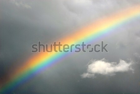 Echt regenboog grijs bewolkt hemel wolken Stockfoto © cienpies