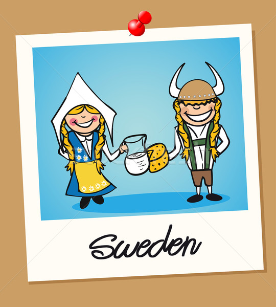 Sweden travel polaroid people Stock photo © cienpies