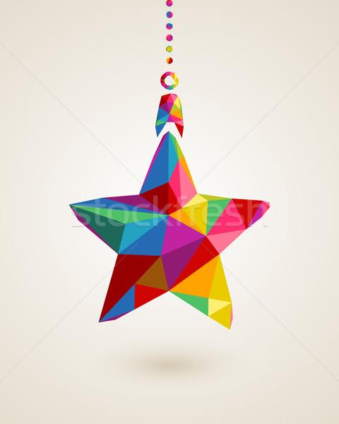Navidad estrellas colgante chuchería de moda colorido Foto stock © cienpies