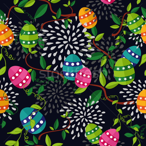 Colorful Easter pattern eggs Stock photo © cienpies