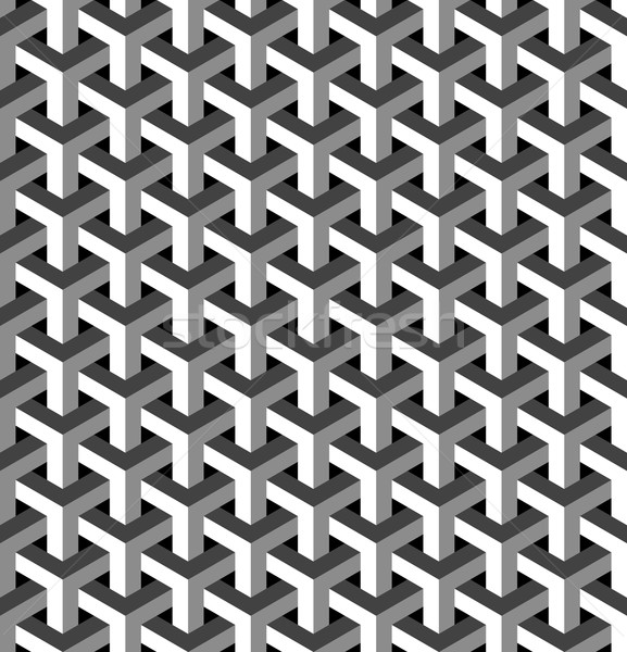 Abstract isometric 3d pattern background Stock photo © cienpies