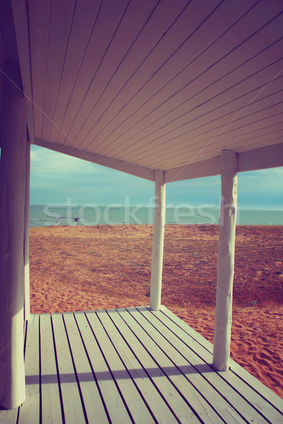 Beach house крыльцо белый Vintage стиль Сток-фото © cienpies