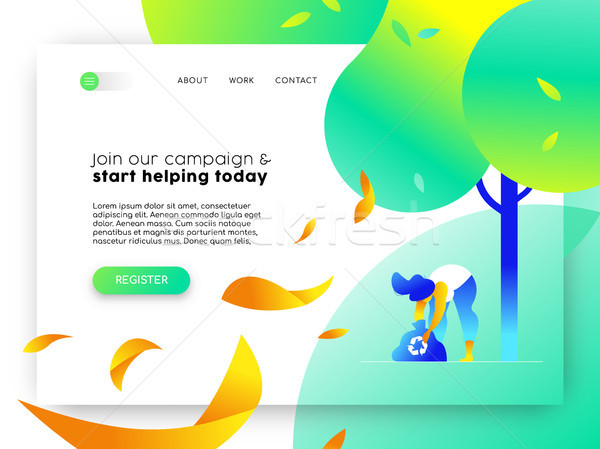Nature help online web landing page template  Stock photo © cienpies