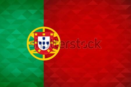 Portugália zászló orosz futball esemény szimbólum Stock fotó © cienpies