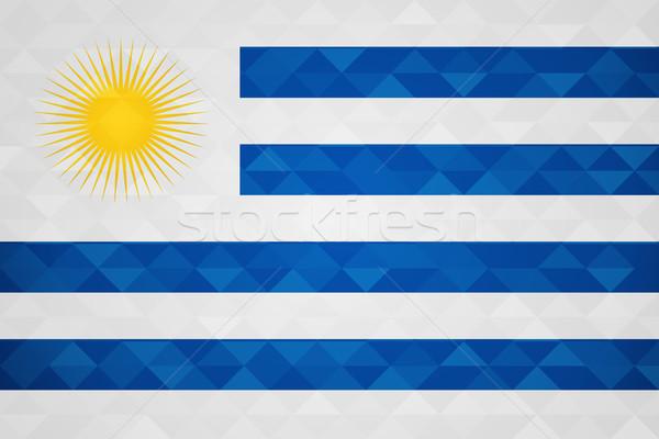 Urugwaj kraju banderą naród specjalny przypadku Zdjęcia stock © cienpies