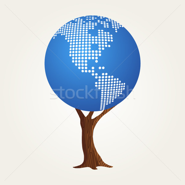 America world map concept for global communication Stock photo © cienpies