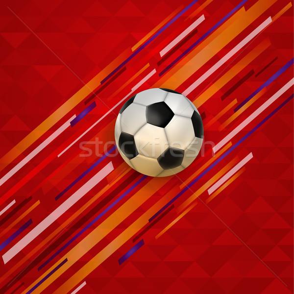 Футбол матча события футбола мяча реалистичный Сток-фото © cienpies