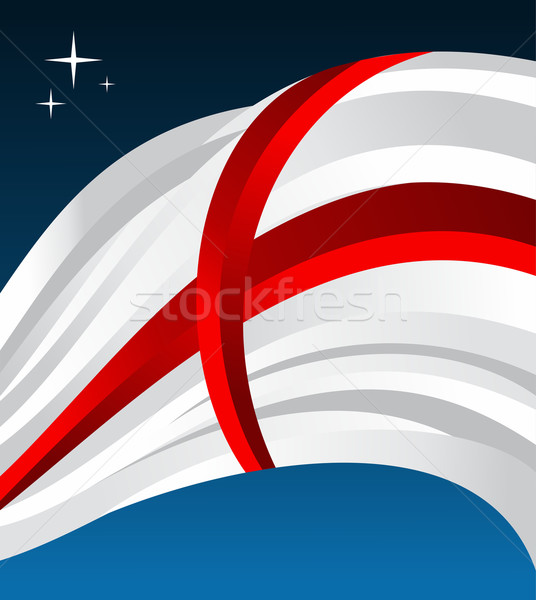 England flag illustration Stock photo © cienpies