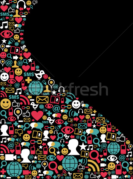 Social media network icon background Stock photo © cienpies
