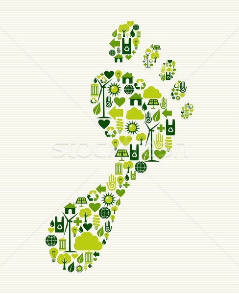 Green icons foot design Stock photo © cienpies