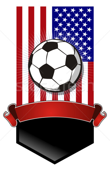 United States Soccer Championship banner Stock photo © cienpies