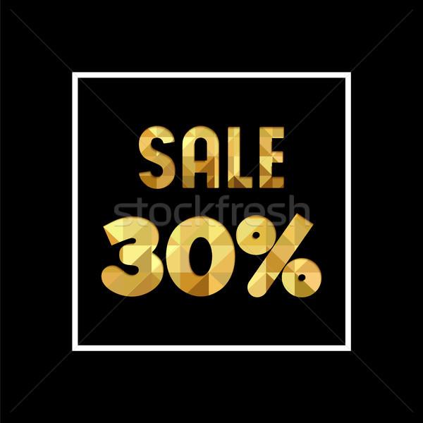 Vásár 30 el arany idézet üzlet Stock fotó © cienpies