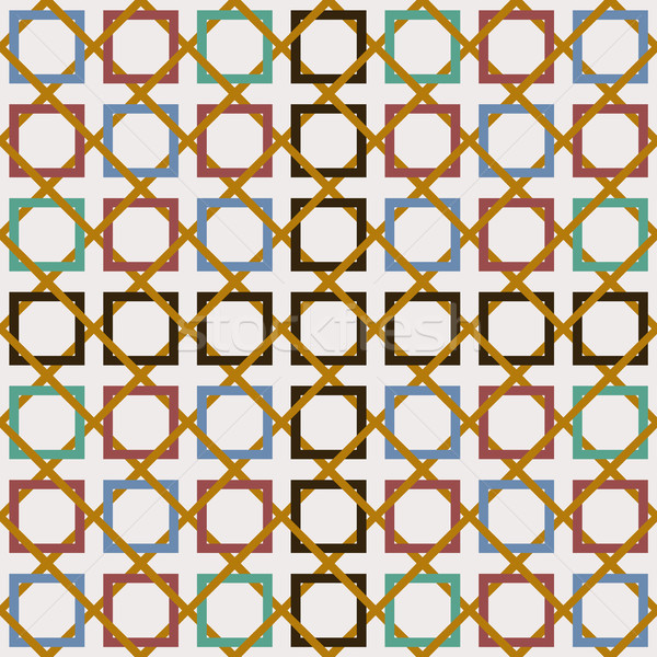 Arabisch tegel decoratie mozaiek kunst Stockfoto © cienpies
