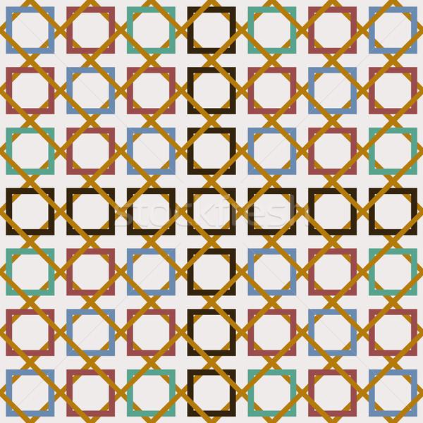Stock photo: Arabic tile seamless pattern decoration mosaic art