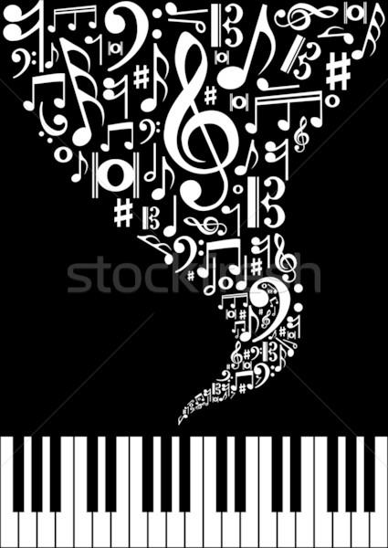 Music splash background Stock photo © cienpies