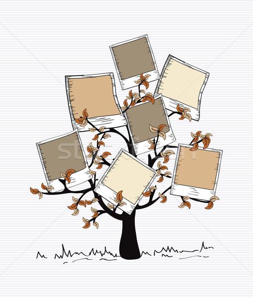 Vintage kolory natychmiastowy Fotografia drzewo brązowy Zdjęcia stock © cienpies