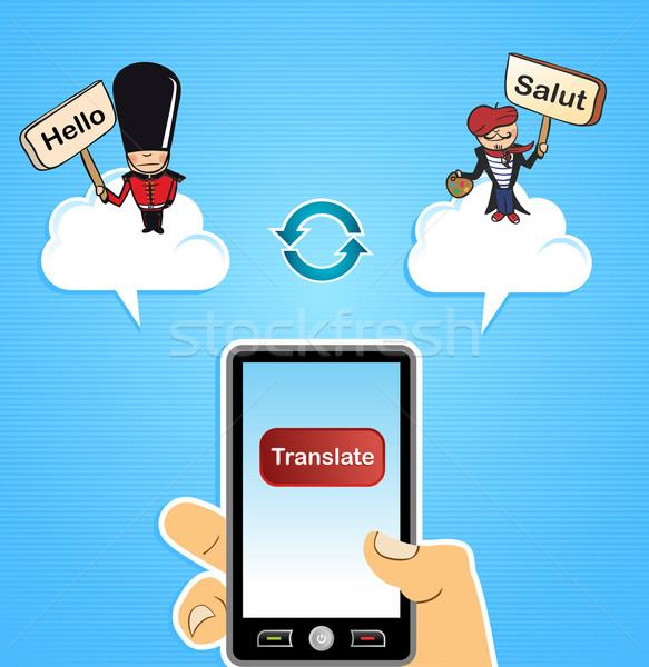 Cloud computing translate concept Stock photo © cienpies