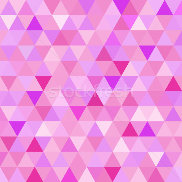 Seamless pattern pink triangle geometry mosaic tile Stock photo © cienpies