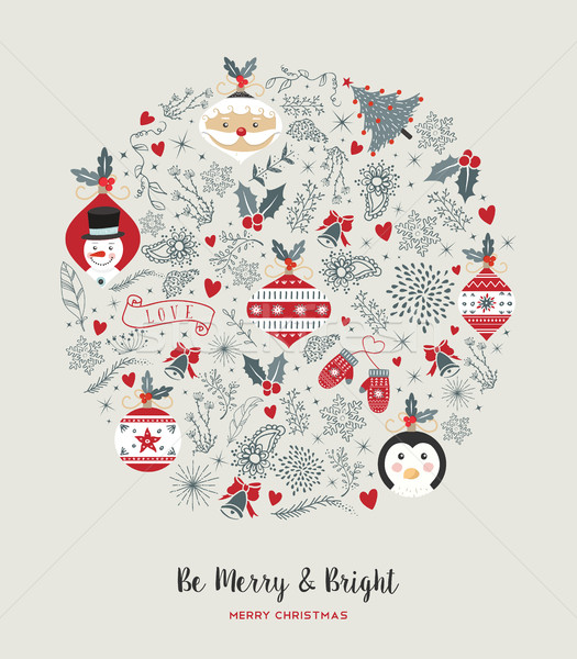 陽気な クリスマス かわいい ヴィンテージ 休日 安物の宝石 ストックフォト © cienpies