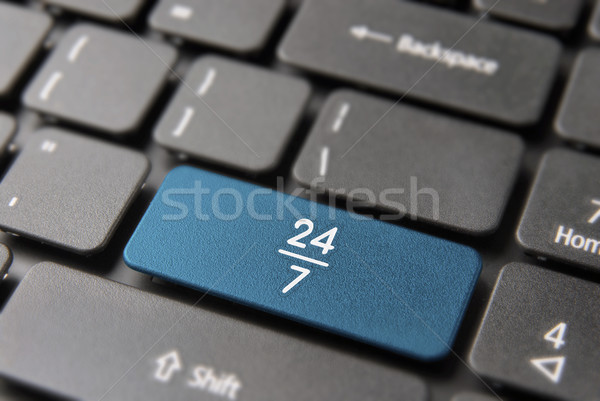 Internet business open 24/7 computer key concept Stock photo © cienpies